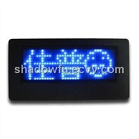 Scrolling text LED name badge/card/tag