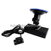Spilt type Car DVR with 8X Digital Zoom support 32GB SD Card