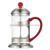 Stainless Steel Coffee Plunger with Painted Handle