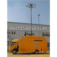 Vehicle Mounted Telescoping Mast/Pneumatic High Mast Lighting/Mobile Light Tower