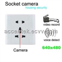 Wall Socket Spy Hidden Camera Electrical Outlet Voice-Activated DVR Covert Audio Video Recorder