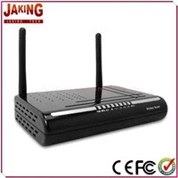 Wireless Modem Router with Four LAN Ports, 12V AC at 1,200mAh Output Voltage and 300Mbps Capacity