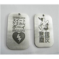 aluminum dog tag, dog tag with embossed logo, pet necklace, dog necklace