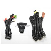 auto fog light wire harness with switch