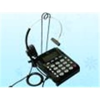 call center telephone headset, noise canceling phone headset