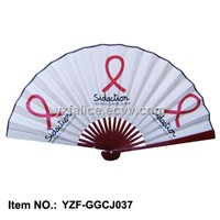 Fabric Hand Fan Printed both Sides for Promotion Gifts
