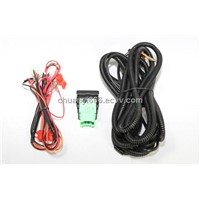 fog light wire harness with switch for automobile