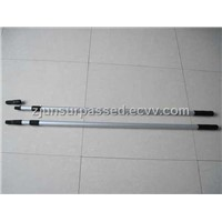 high quality anodized smooth aluminum 2-section durable telescopic handle