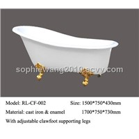 high-quality luxurious free-standing cast iron bathtubs