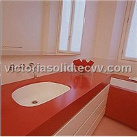 high quality modified acrylic solid surface vanity top