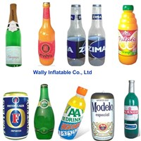 inflatable bottle, inflatable can,  champagne beer inflatable juice box for promotion