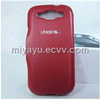leather front and back two part phone cases for samsung galaxy s3