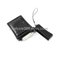 mini, portable , free loader keychain solar charger for ipod/iphone