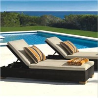 Outdoor Wicker Sun Lounge