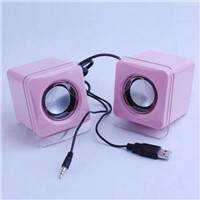 portable USB mini speaker for laptop with low noise Language Option  French
