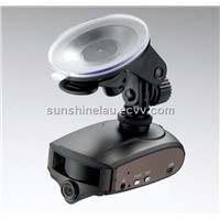 radar detector with car dvr camera