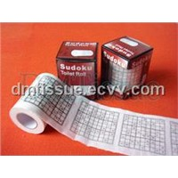 sudoku printed toilet paper tissue with box