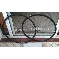 wholesale super light 24mm tubular wheelset 3K weave glossy finish