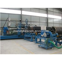 hdpe plastic spiral winding pipe extruder