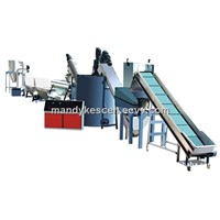 pet bottle flake plastic recycling machine