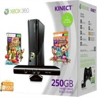 Xbox 360 Game console - 250 GB - Glossy black - includes Kinect