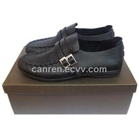 casual leather shoes with genuine leather upper and rubbert outsole