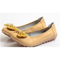 casual women's leather shoes with genuine leather upper and TPR outsole