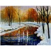 Abstract landscape knife oil painting