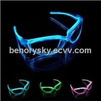 EL glowing Glasses with 3V battery box
