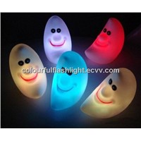 Free Shipping LED Colorful Moon Light, Night Light, Brilliant Smile Moon Lights , Creative gift ...