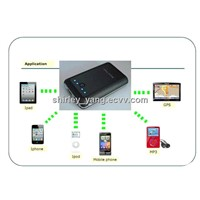 High Capacity Power Station for Iphone4,Iphone 4S,Ipad,Ipod,mobile phone,GPS, MP3