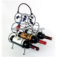 Iron Wire Wine Rack, Steel Wine Bottle Holder