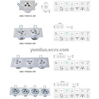 LED ceiling light LED lighting LED down light lighting fixture commercial light