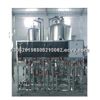 Stainless steel tank electrophoresis refining system