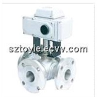 Three-way ball valve, L type three-way valve, T type three-way valve