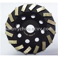 125mm Diamond Swirl Cup Grinding Wheel
