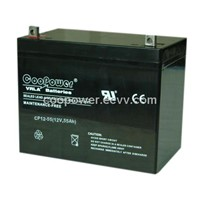 12V 55AH SEALED LEAD ACID BATTERY, VALVE REGULATED LEAD ACID BATTERY, UPS BATTERY, SOLAR BATTERY ,