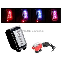 2012 New Waterproof Outdoor Cycling Camping Bike Bicycle LED Laser Light Shot 6-LED Tail Light