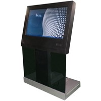 "32""-55""free standing touch screen inquiry  kiosk"
