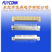 2-row 32 pin Bent  Pin Female European Socket DIN Connectors