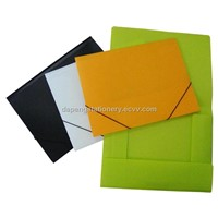 3 flap file folder with elastic band