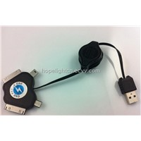 4 in 1 Multi-Function Adapter USB Retractable Charger Cable