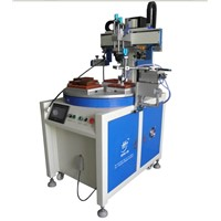 4 stations converyor servo silk screen printing  with unload device