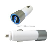 5W Series USB Car Charger with Cable, 2.5 to 7.5V DC Output Voltage, 100 to 2,000mA Output Current