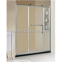 6mm clear tempered glass big wheels shower screen XH-8870