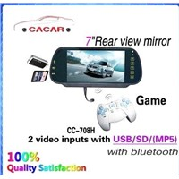 7 inch rearview mirror bluetooth with TFT LCD screen