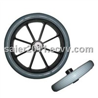 "8"" Front PU Wheel,Gery Solid tire wheel FW001"