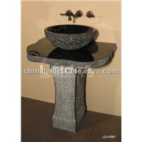 Absolute black vanity basin