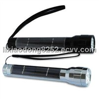 Aluminum Alloy Solar Powered LED Torch
