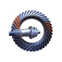 Bevel driven gear of rear axle